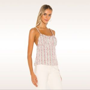 NWT Free People Ivory Floral Camisole